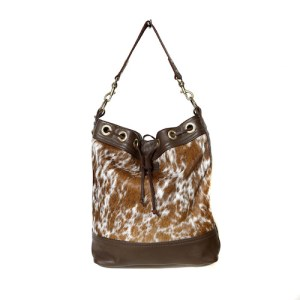 bags-leather-bucket-bags- tricolour-cowhide-bags-brown and white, leather bags, fashion accessories, women's accessories