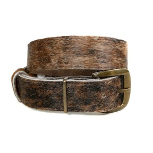Zulucow Nguni cowhide belt brown and black belt buckle cowhide accessories womenswear fashion