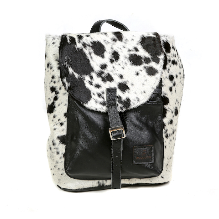 cowhide bag leather bag, backpack, black & white, fashion, accessories, bags, womenswear