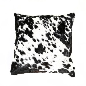 Zulucow Nguni cowhide cushion black and white scatter cushions home accessories soft furnishings interiors home decor pillows