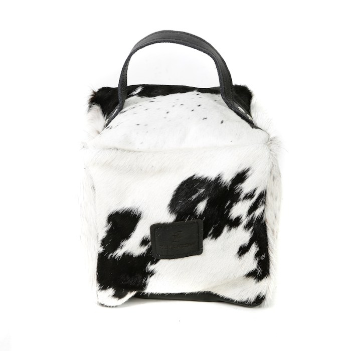 Zulucow Nguni ethically and sustainably sourced cowhide door stop, black and white doorstop, interiors, home accessories, christmas unisex presents