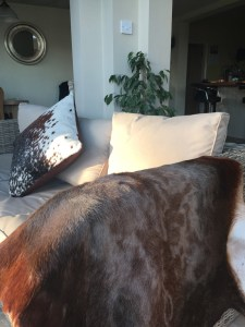 hygge home, hygge style, hygge Christmas, Danish style, cosy home, Blesbok rugs, cowhide cushions