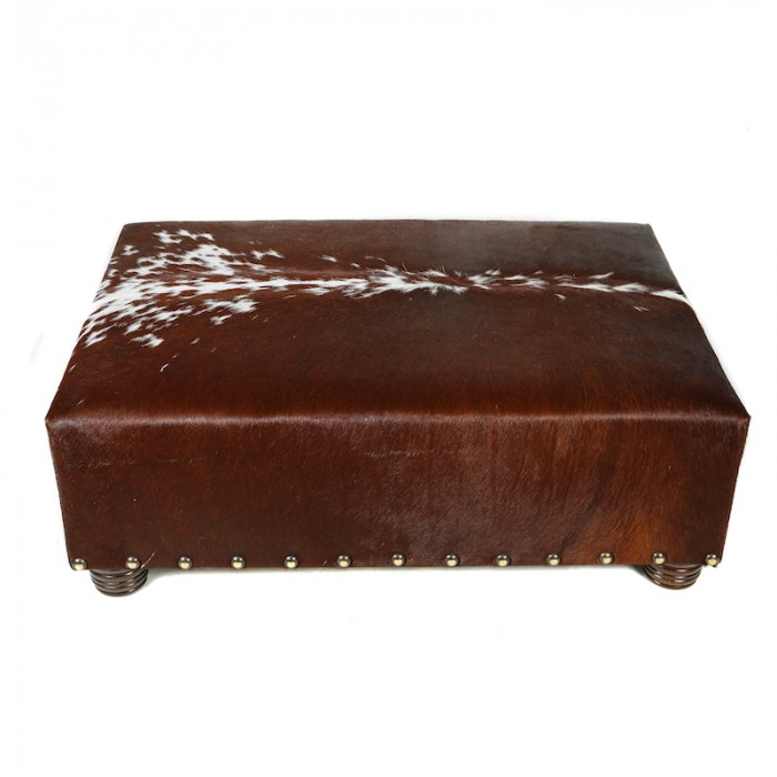 cowhide footstools and ottomans
