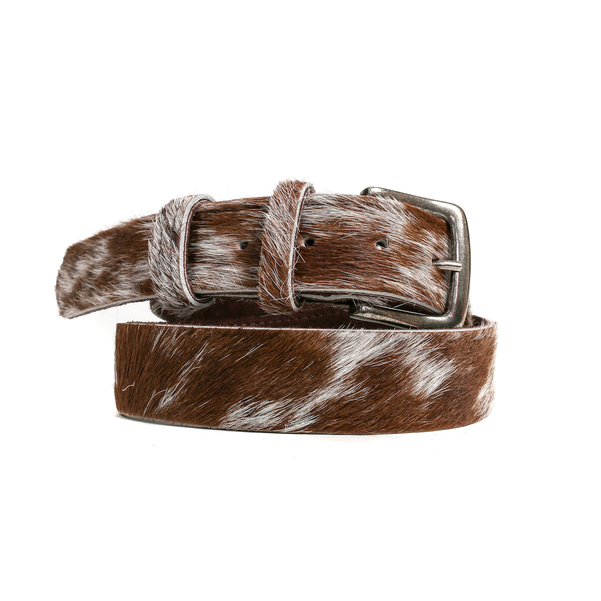 cowhide belts, tan and white, artisan made, handmade, cowhide, slow fashion, sustainable fashion