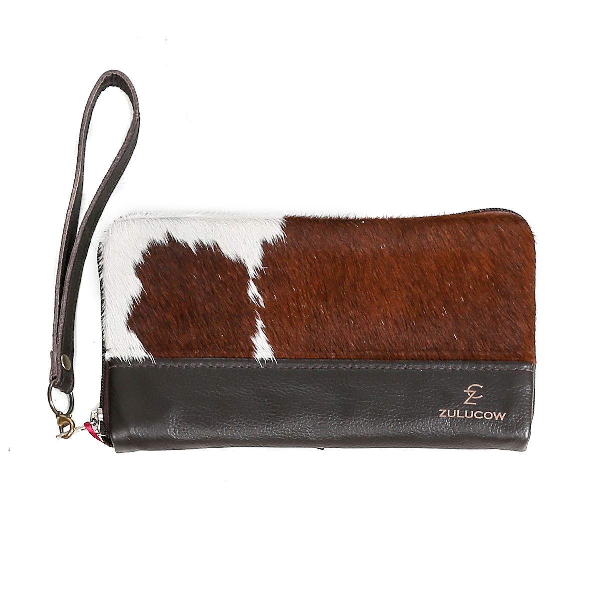 cowhide purse, wallet, travel wallet, clutch, cowhide clutch, sustainable fashion, slow fashion, sustainable, handmade purse, artisan-made, ethically made, christmas gifts for her, leather wallet