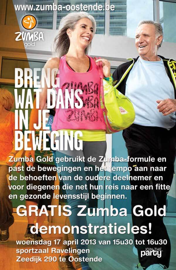 zumba gold demonstratieles en kennismaking op 17 april in ravelingen oostende