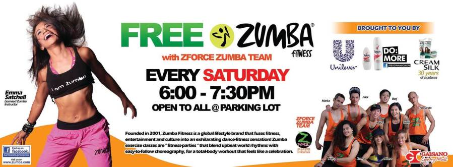 Free zumba zforce cebu