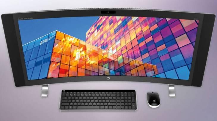 世界初の34型曲面ディスプレイPC「HP ENVY Curved All-in-One」