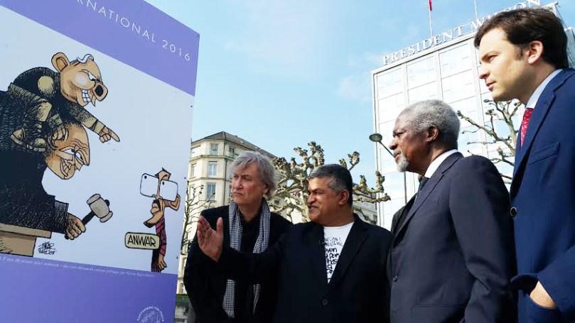 Zunar Kofi Annan Exhibition