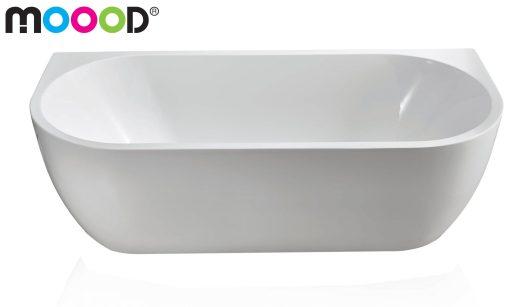 Semi-Vrijstaand ligbad 180×80 wit acryl