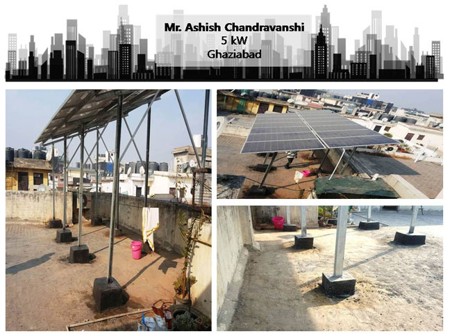 Solar in Ghaziabad–Mr. Ashish Chandrawanshi–Happy ZunRoof Client!