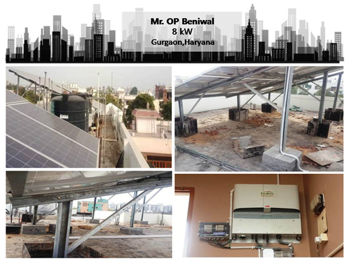 Solar in Gurgaon – OP Beniwal – Happy ZunRoof Client!