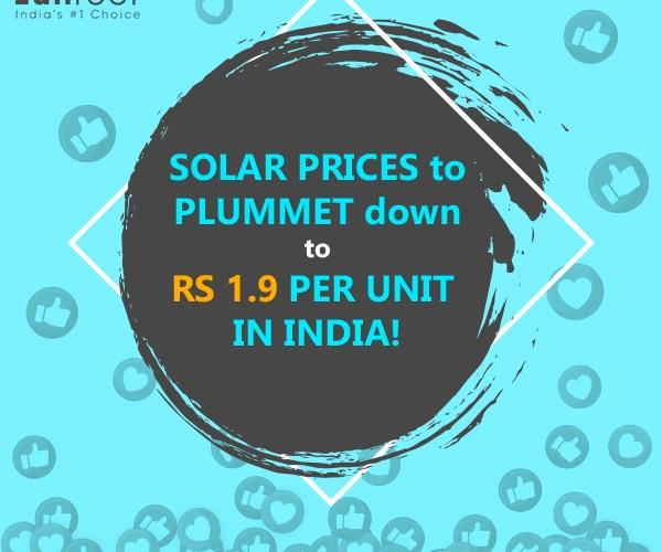 Solar prices in India