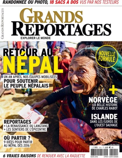 Grands Reportages N°416 - Mars 2016