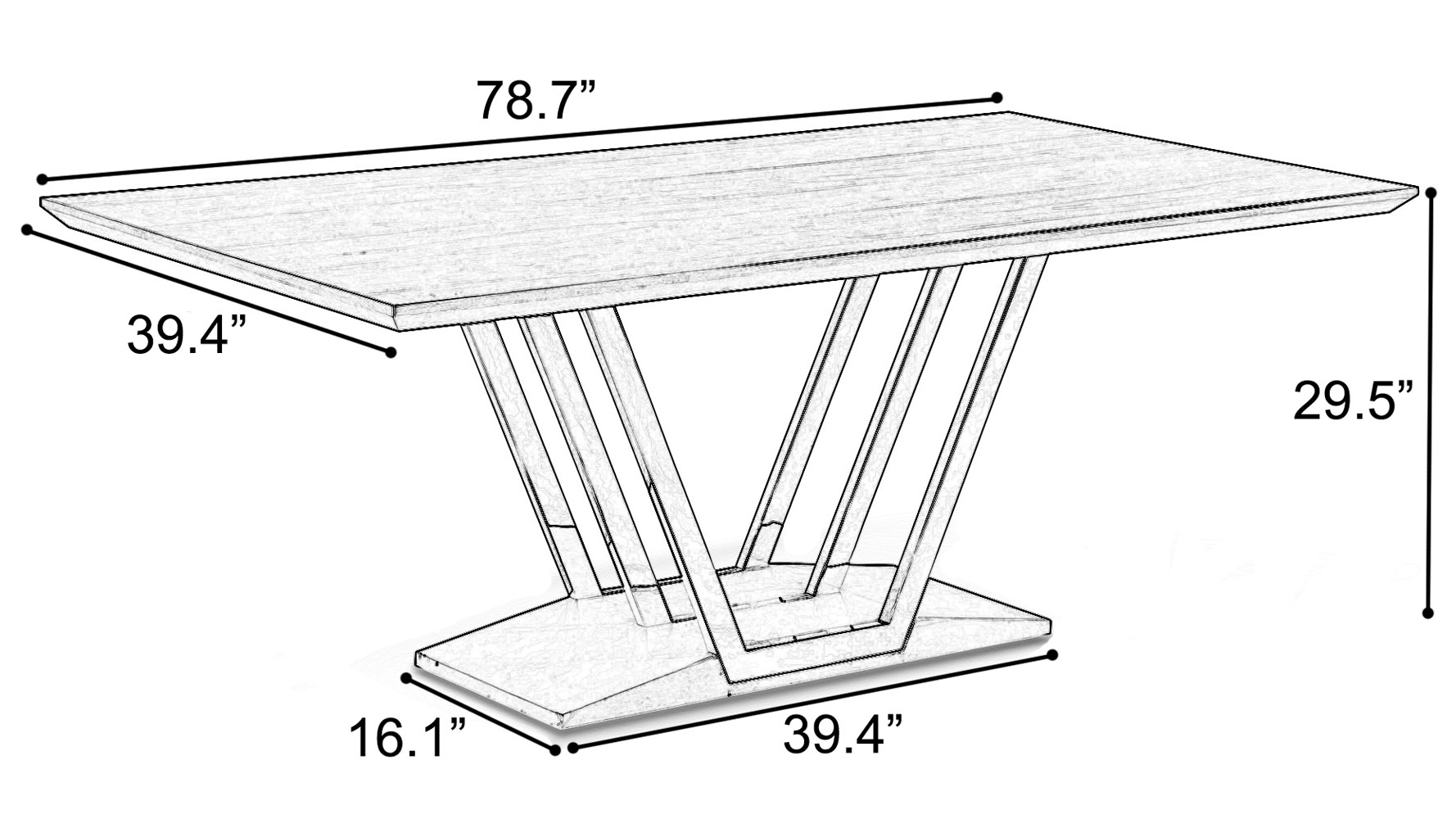 Modern Roman Dining Table