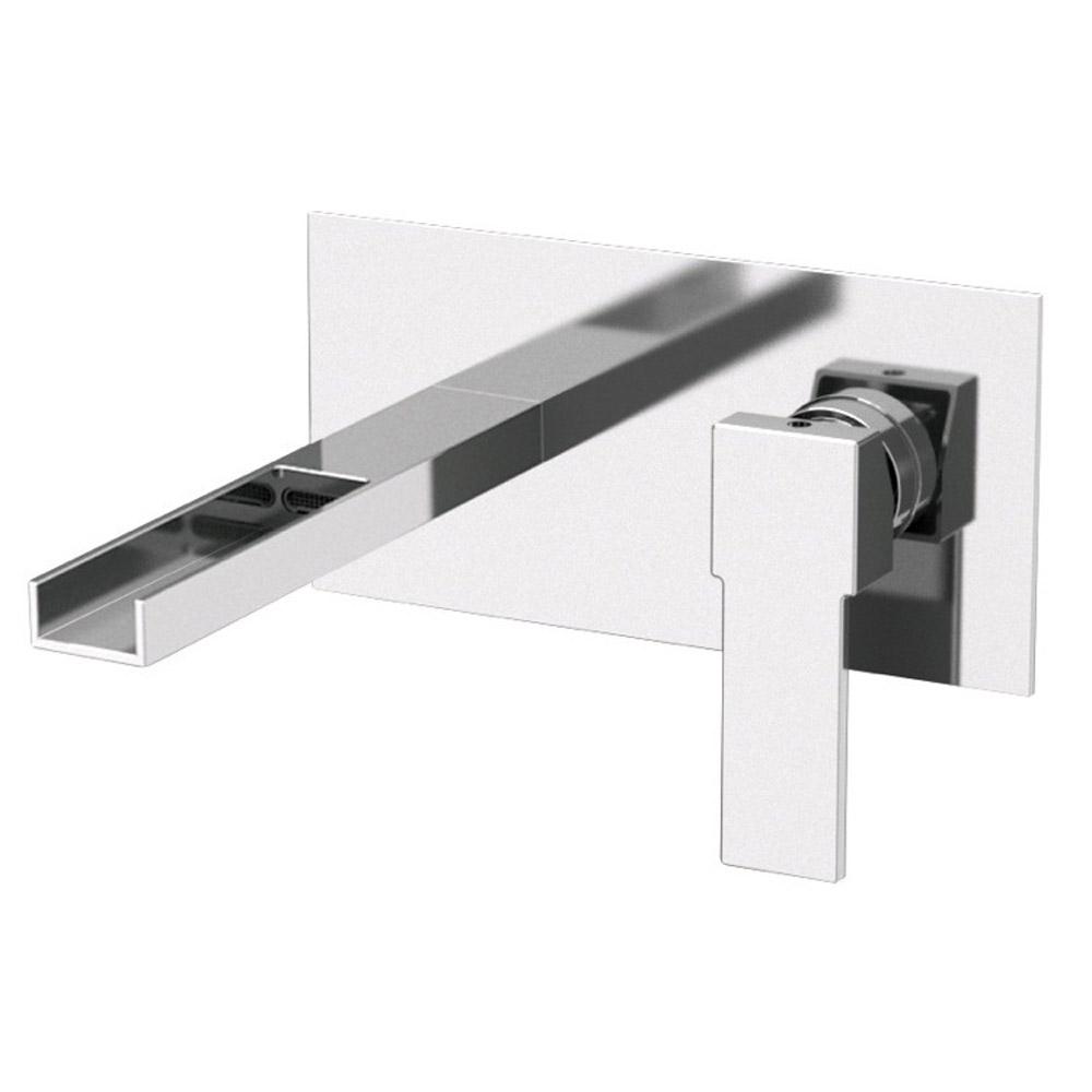 qubika cascade wall mounted horizontal sink faucet