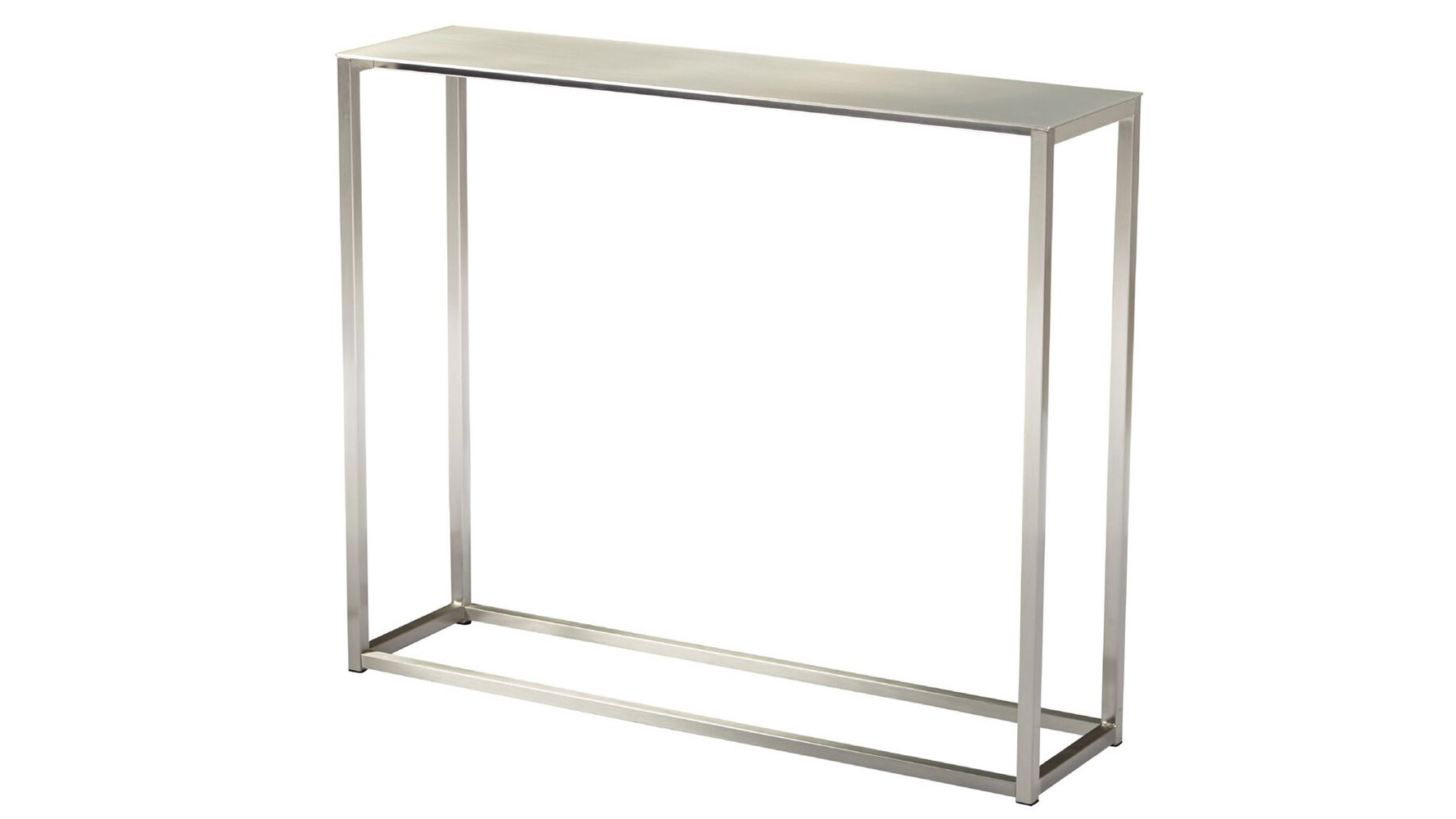 Sancha 48 Inch Brushed Aluminum Console Table