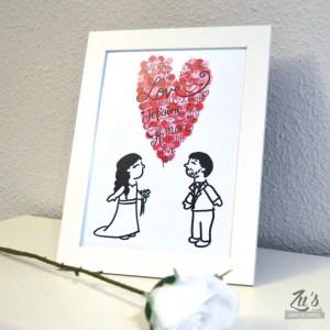 Lámina personalizada para parejas