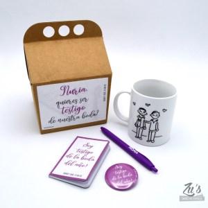 Kit para testigos de boda