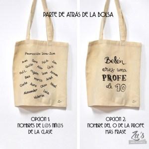Pack para profesores: bolsa de tela + monedero