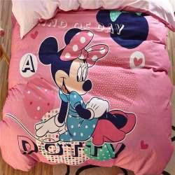 minnie souris 3d ensembles de literie enfants de filles lit feuilles couvertures de bande dessinee disney poncage coton chaud hiver lits jumeaux reine
