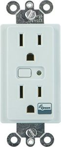 Best Z-Wave Outlets GE Z-Wave Wireless Lighting Control Duplex Receptacle, In-Wall, 12721