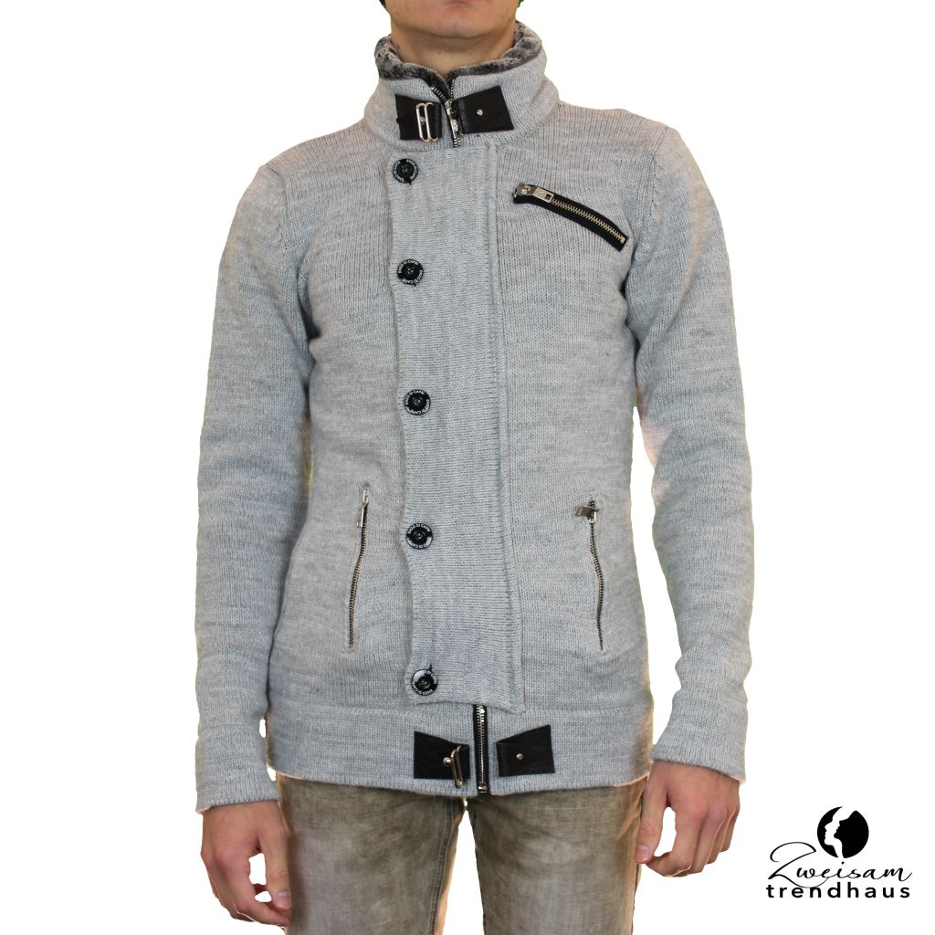 Herren Strickjacke GRAU | ZWEISAM MODE Schonach Mode Trends & Klassik