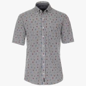 Herren Hemd gestreift mit Mini Vespa Roller von CasaModa Front