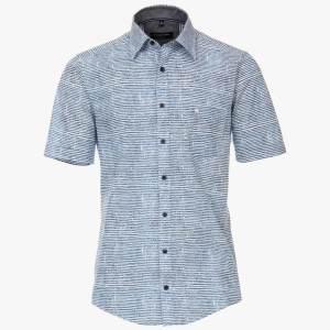 Herren Hemd mit querstreifen von CasaModa blau front