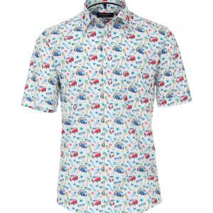 Herren Hemd halbarm für VW Bulli Fans von CASAMODA mit BULLIS und Surfbrettern