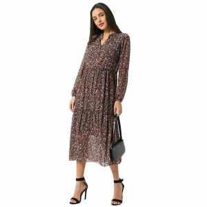 """Damen Kleid """"Fee"""" von Hailys Maxikleid knöchellang mit Blumenprint online kaufen, oder bei Zweisam Mode in Schonach ganzkörper"""
