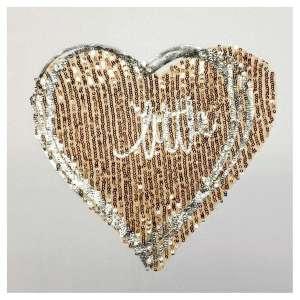 Dame T-Shirt von Hailys Modell Hearty mit Herz Motiv Pailletten LF-25214 weiss Zweisam Mode Schonach Motivbild
