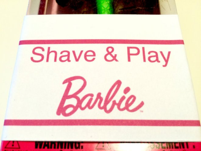 shave & play Barbie