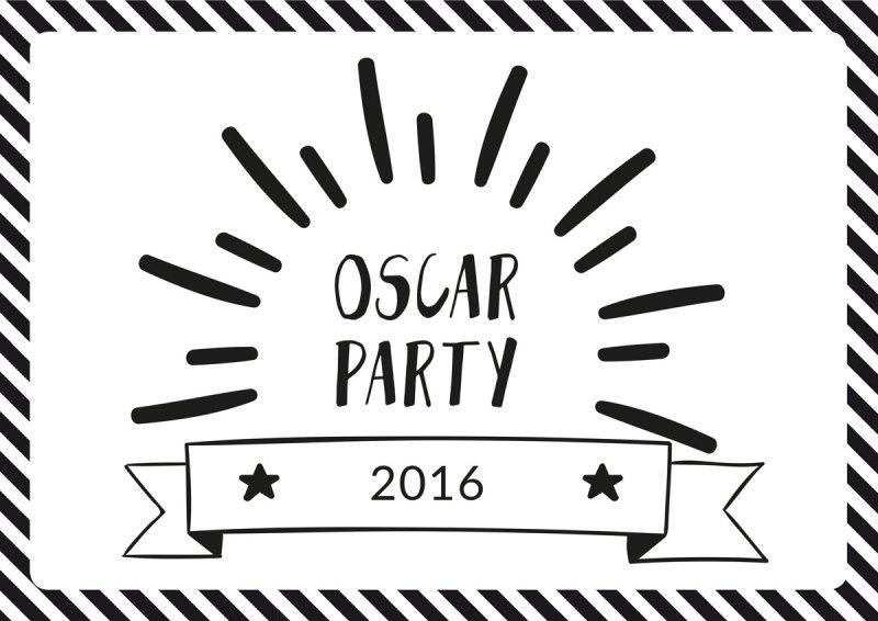 oscar party - die academy awards 2016 - free printables