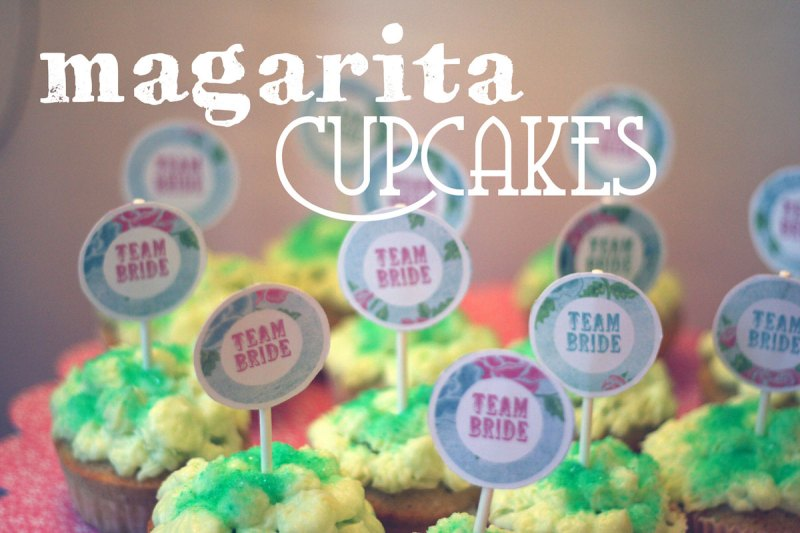 magarita cupcakes {inkl. free cupcake topper - from miss to mrs.}
