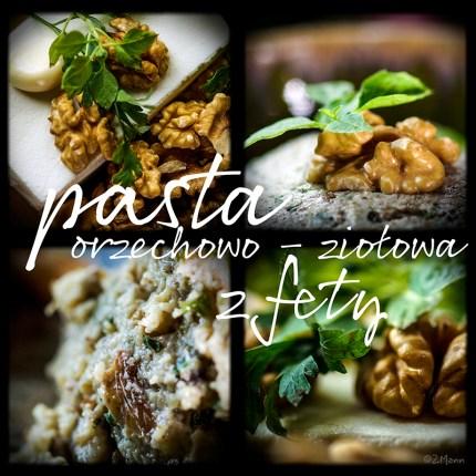 pasta orzechowo - ziołowa z fety