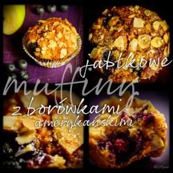 jabłkowe muffiny z borówkami