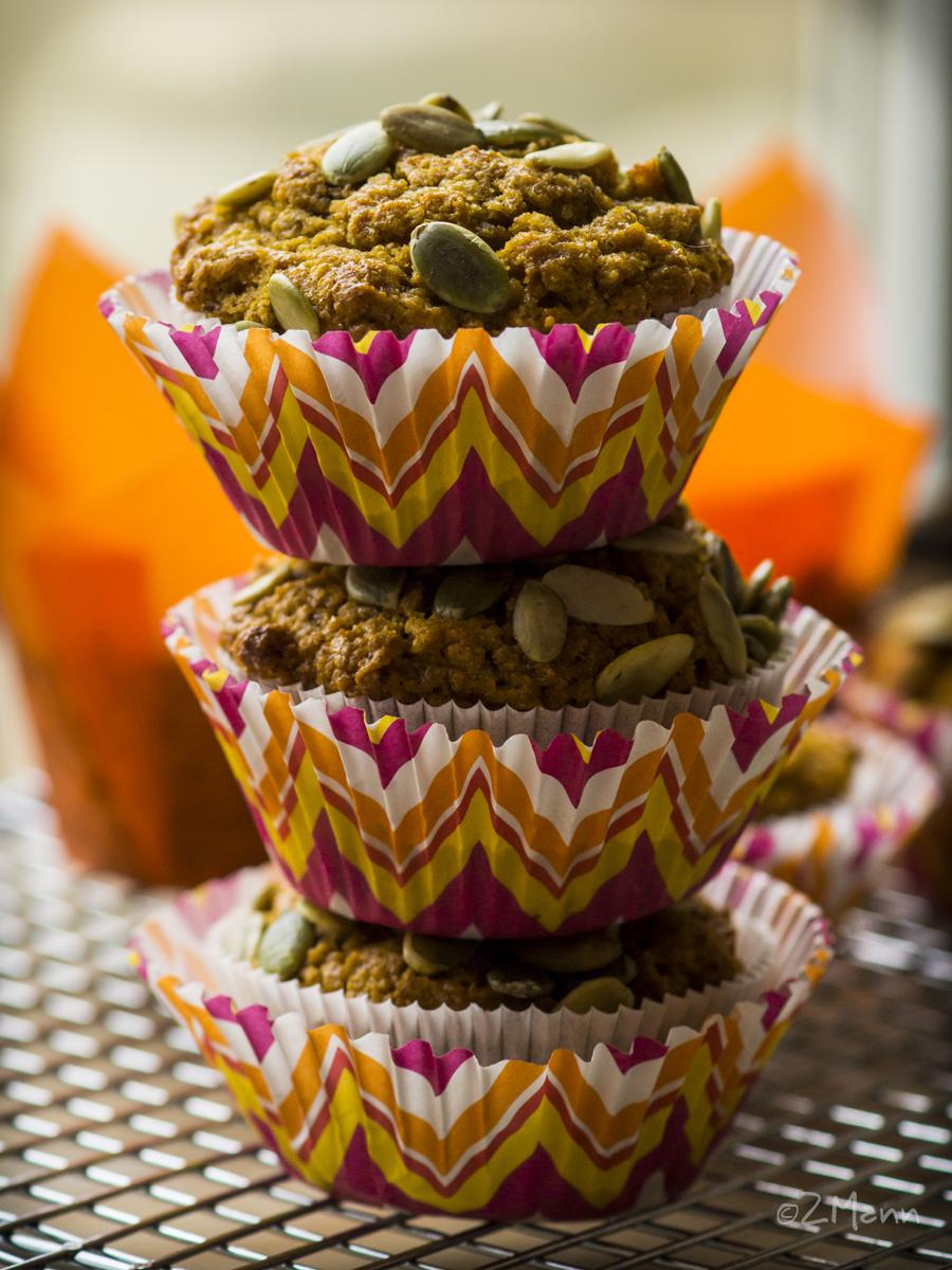 z widokiem na stół   aksamitne muffiny dyniowe