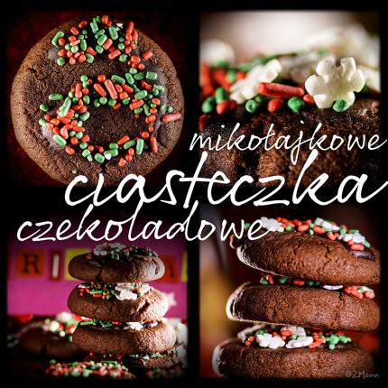 z widokiem na stół   mikołajkowe ciasteczka czekoladowe