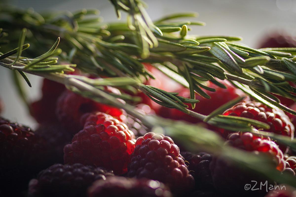 z widokiem na stół | smak lata : maliny & rozmaryn