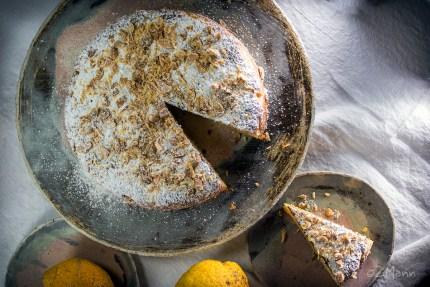 z widokiem na stół | ciasto z cytryn bez mąki