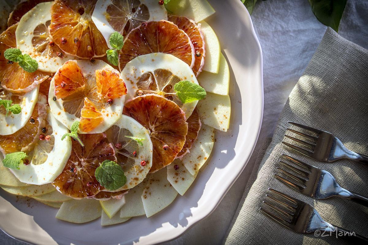 z widokiem na stół | sałatka cytrusowa z jabłkiem