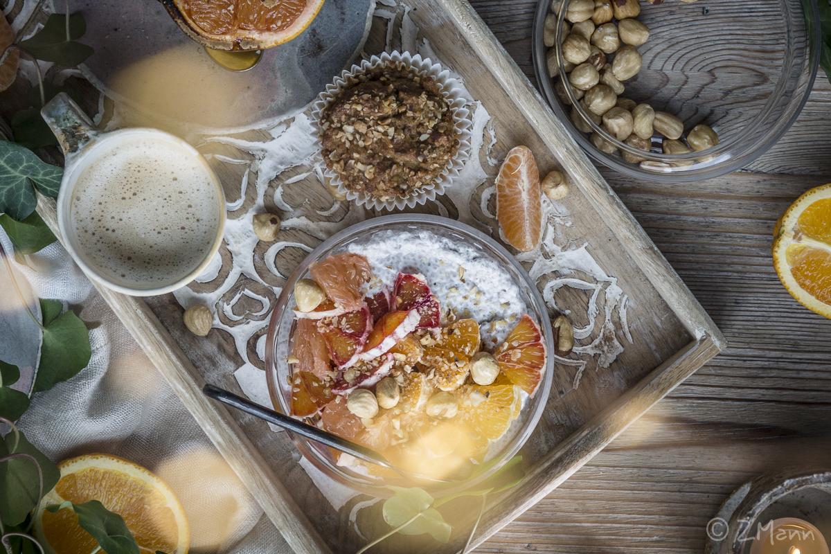 z widokiem na stół | orzechowa chia bowl . na ciepło