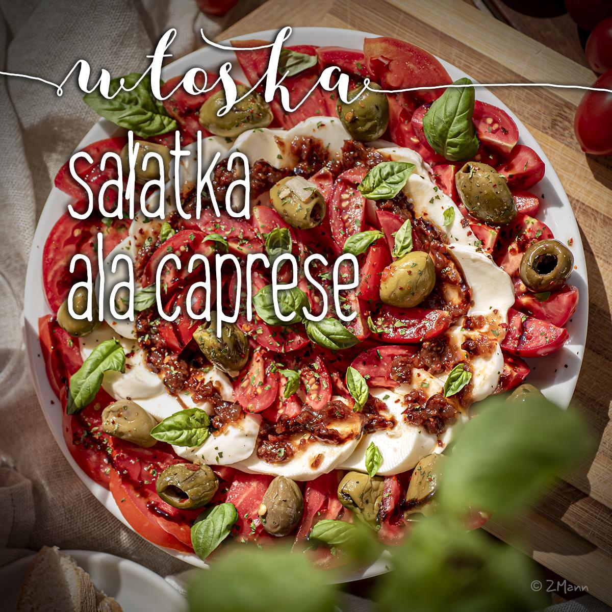 z widokiem na stół | włoska sałatka ala caprese