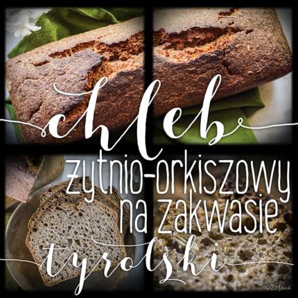 z widokiem na stół | chleb żytnio-orkiszowy na zakwasie . tyrolski
