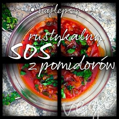 z widokiem na stół   rustykalny sos z pomidorów