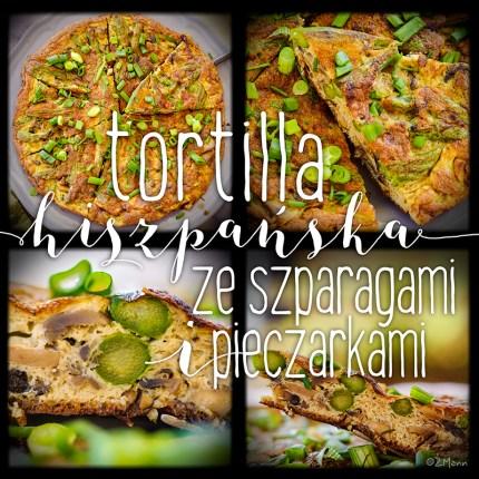 z widokiem na stół | tortilla hiszpańska ze szparagami i pieczarkami