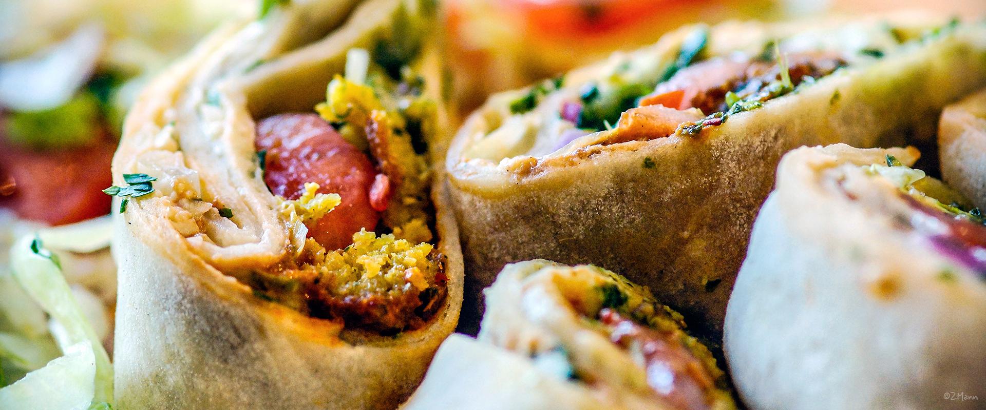 Z Widokiem Na Stol Kuchnia Bliskiego Wschodu Mezze Hummus I