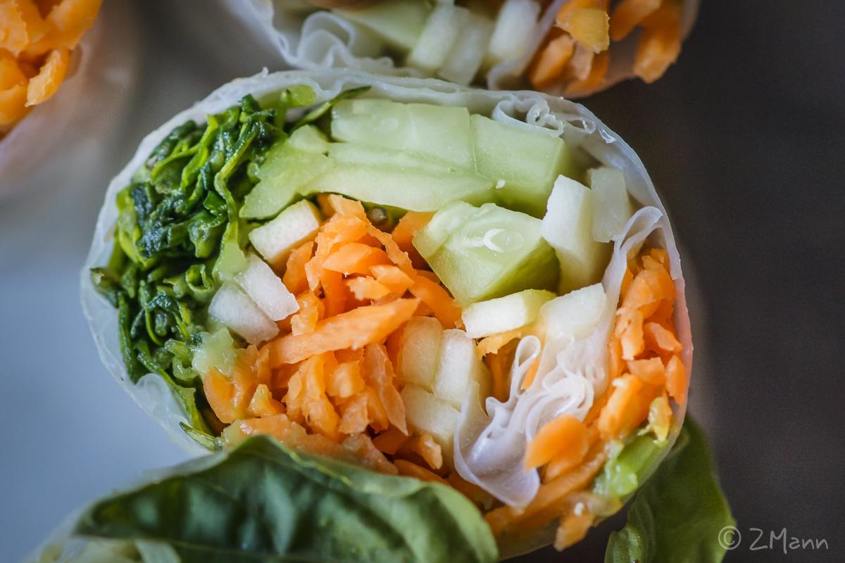 z widokiem na stół | rolki pełne świeżych warzyw