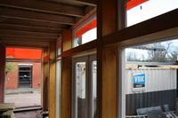 gelamineerde spanten en zonwering, moderne architectuur